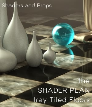 Shader Plan - Iray Classic Tile Floors and Props 3D Figure Assets 3D Models fabiana