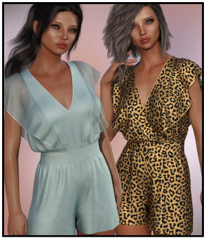dForce - Butterfly Romper for G8F 3D Figure Assets Lully