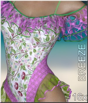 Breeze- 16 Styles for Frill Swimsuit 3D Figure Assets LUNA3D