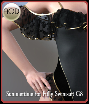Summertime for Frilly Swimsuit G8 3D Figure Assets ArtOfDreams