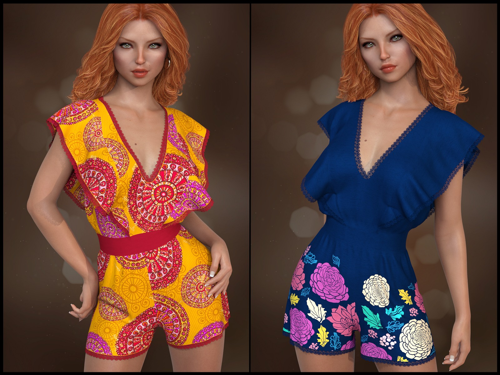 7th Ave: dForce - Butterfly Romper for G8F