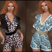 7th Ave: dForce - Butterfly Romper for G8F image 3