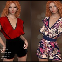 7th Ave: dForce - Butterfly Romper for G8F image 5