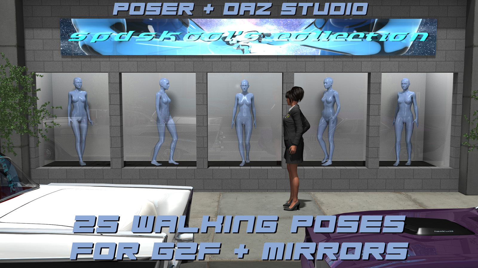 25 Walking Poses for G2F