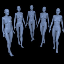 25 Walking Poses for G2F image 1