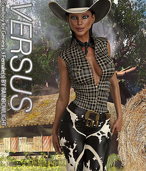 VERSUS - Cowboy for Genesis 3 Female(s) 3D Figure Assets Anagord