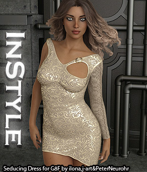 InStyle - Seducing Dress for Genesis 8 Female 3D Figure Assets -Valkyrie-