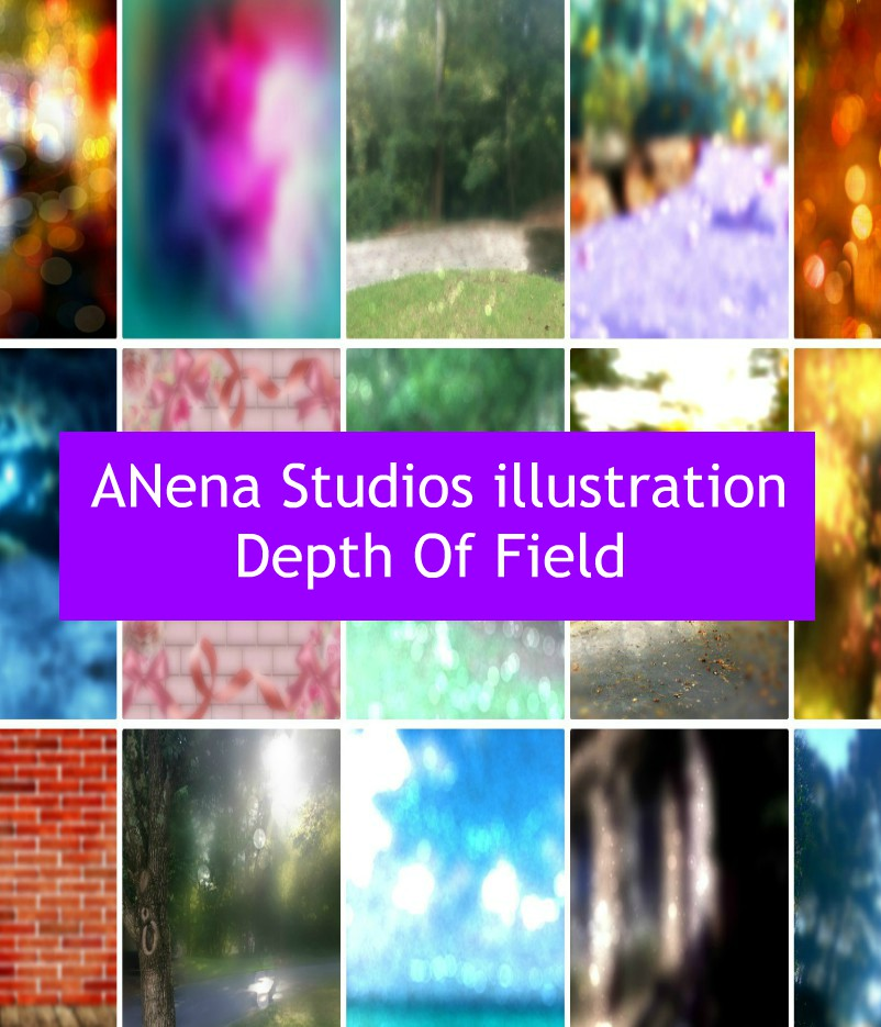 Depth of Field Backgrounds By ANena Studios illustration