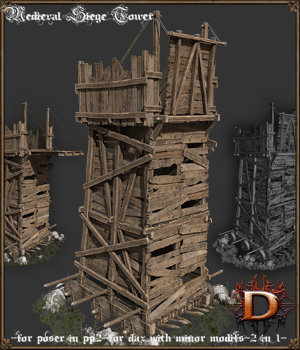 Medieval Siege Tower 3D Models Dante78