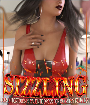 Sizzling for dForce Caliente Dress for Genesis 8 Female(s) 3D Figure Assets ShanasSoulmate