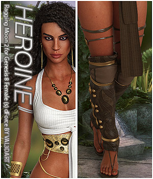 HEROINE - Raging Moon 2 for Genesis 8 Female (s) dForce 3D Figure Assets Anagord