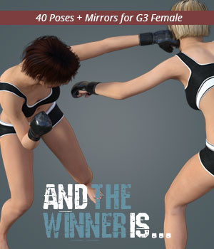 AND THE WINNER IS for Genesis 3 Female 3D Figure Assets PainMD