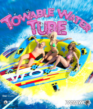Towable Water Tube for DAZ Studio 3D Models pamawo