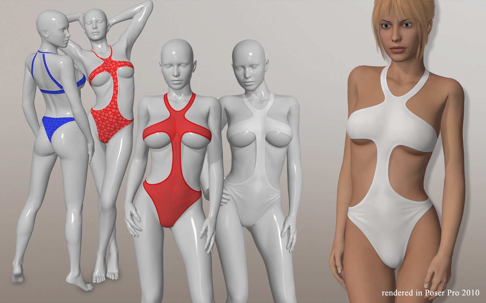 Sexy One Piece Swimsuit I for V4A4G4S4Elite and Poser