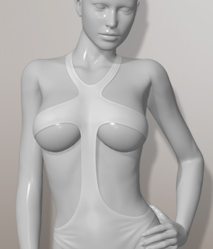 Sexy One Piece Swimsuit I for V4A4G4S4Elite and Poser 3D Figure Assets 3D-Age