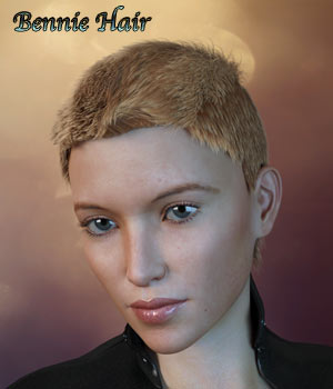 Bennie Hair For G3/G8 Daz 3D Figure Assets RPublishing