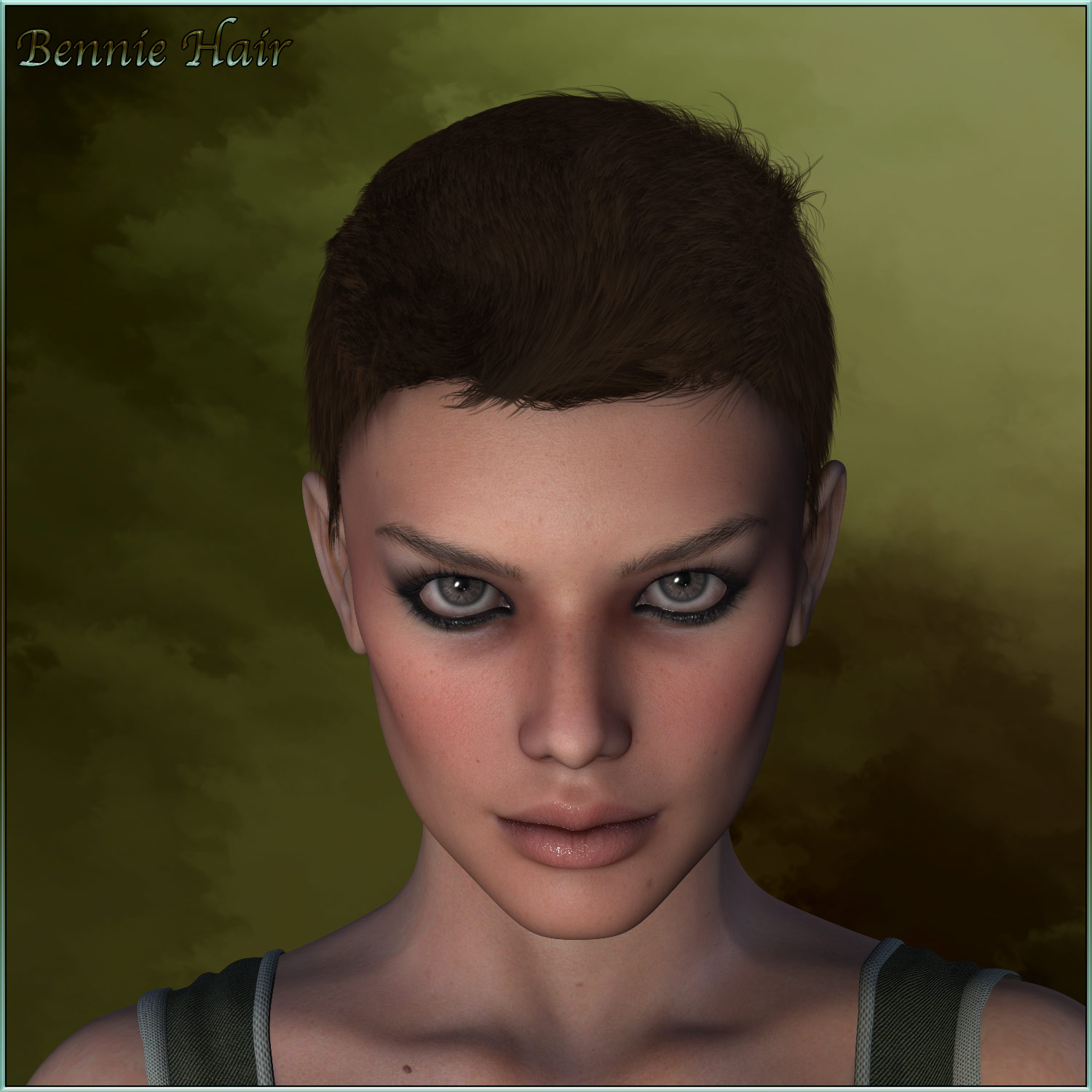 Bennie Hair for V4/M4 and La Femme - Poser