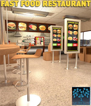 Fast Food Restaurant 3D Models BlueTreeStudio
