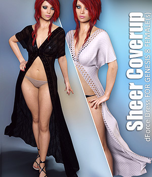 dForce Sheer Coverup for Genesis 8 Females 3D Figure Assets lilflame