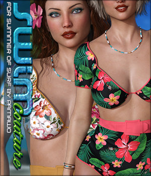 SWIM Couture for Summer of Surf 3D Figure Assets Sveva