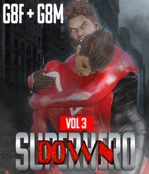 SuperHero Down for G8F and G8M Volume 3 3D Figure Assets GriffinFX