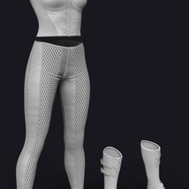 X-Fashion Dark Outfit for Genesis 8 Females image 4