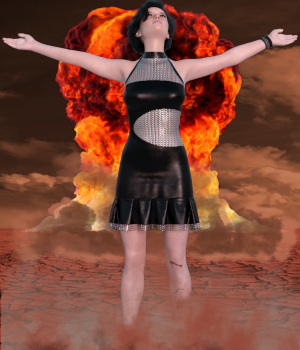 dForce Apocalyptic Dress for G8F 3D Figure Assets PsychoGinger