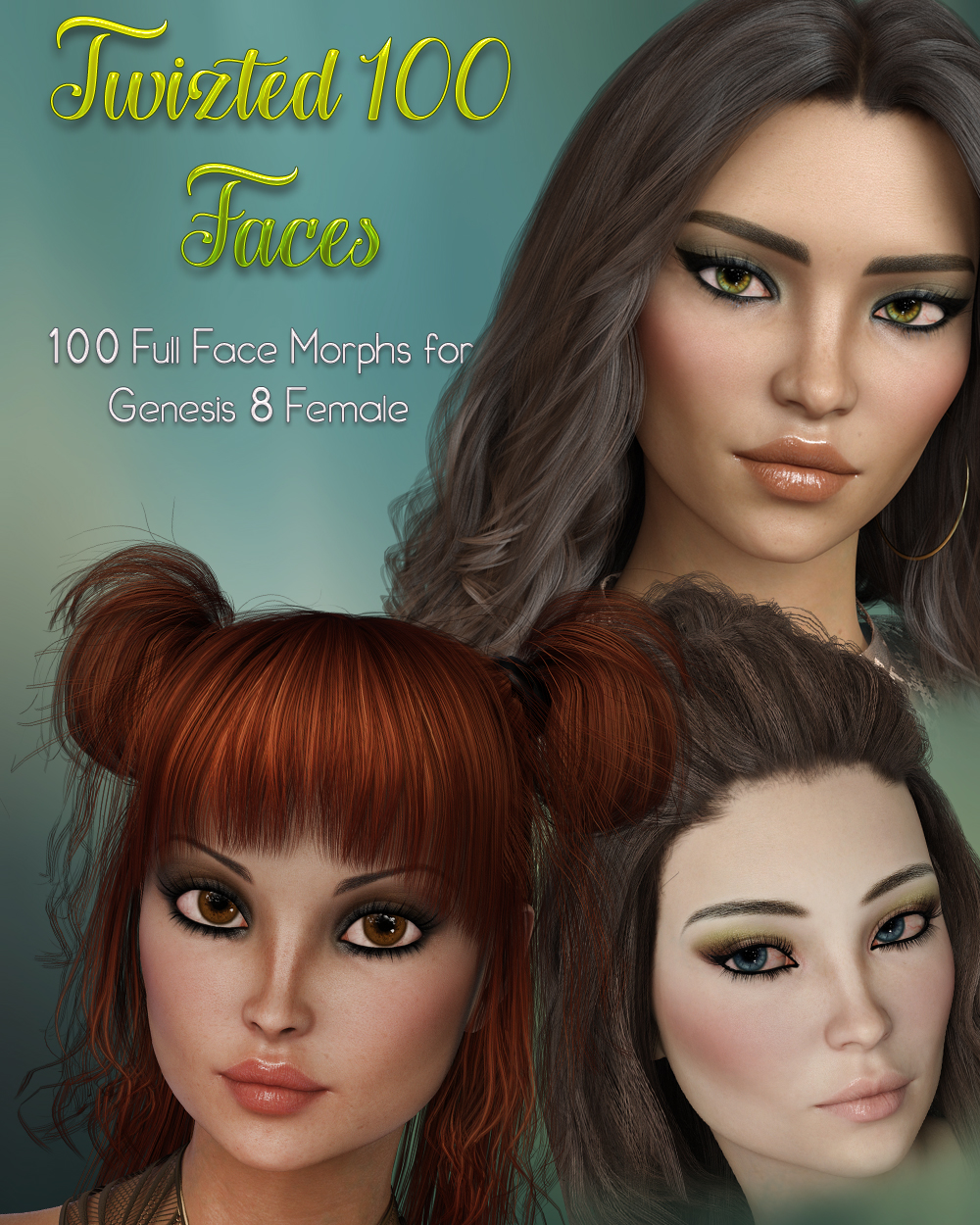 Twizted 100 Faces for Genesis 8 Female by TwiztedMetal