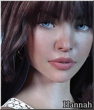 Hannah- G8 with 2nd Skins 3D Figure Assets LUNA3D
