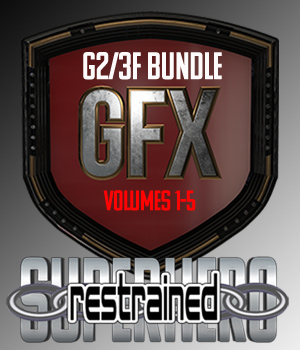 SuperHero Restrained Bundle for G2F and G3F 3D Figure Assets GriffinFX