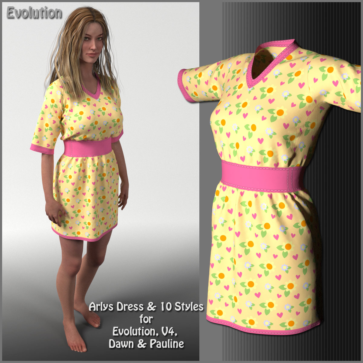 Arlys Dress and 10 Styles for Evolution, V4, Dawn and Pauline