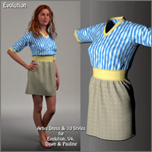 Arlys Dress and 10 Styles for Evolution, V4, Dawn and Pauline image 2