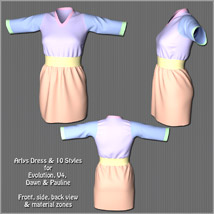 Arlys Dress and 10 Styles for Evolution, V4, Dawn and Pauline image 10