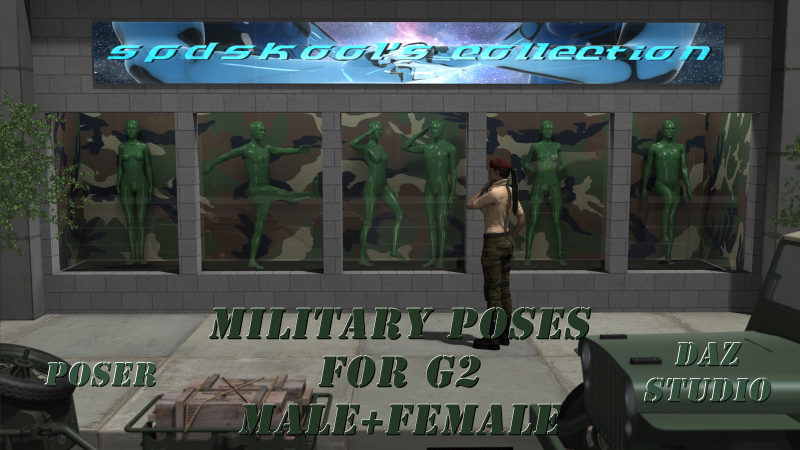 Military Poses for G2 by spdskool