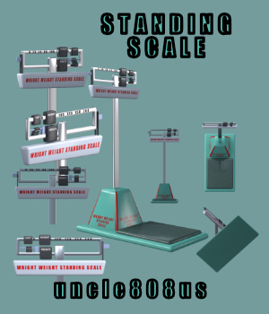 Standing Scales 3D Models uncle808us
