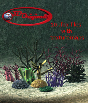 Coral and Underwater Plants - Extended LIcense 3D Game Models : OBJ : FBX 3D Models Extended Licenses Designer01