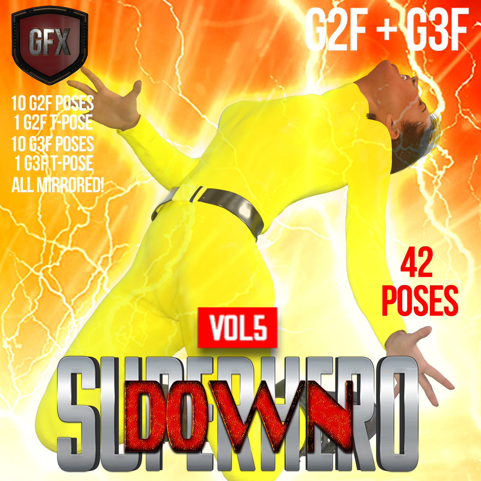 SuperHero Down for G2F and G3F Volume 5