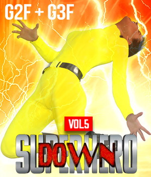 SuperHero Down for G2F and G3F Volume 5 3D Figure Assets GriffinFX
