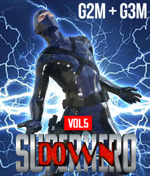 SuperHero Down for G2M and G3M Volume 5 3D Figure Assets GriffinFX