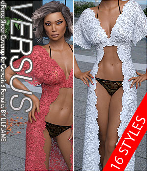VERSUS - dForce Sheer Coverup for Genesis 8 Females 3D Figure Assets Anagord