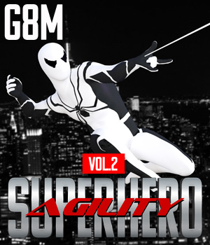 SuperHero Agility for G8M Volume 2 3D Figure Assets GriffinFX