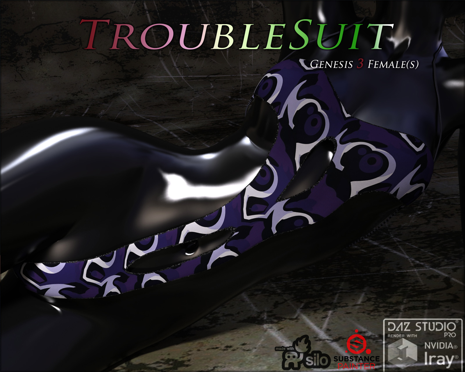 TroubleSuit for Genesis 3 Females