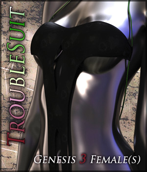 TroubleSuit for Genesis 3 Females 3D Figure Assets Quanto
