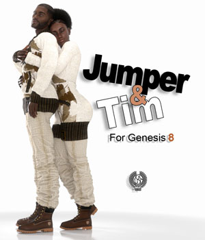 Jumper And Tim For Genesis 8 3D Figure Assets samsil