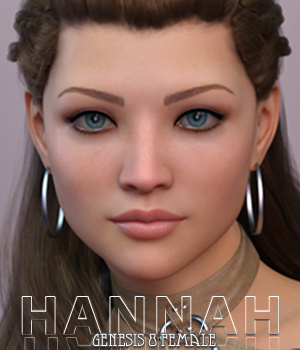 Hannah for Genesis 8 Female 3D Figure Assets Freja