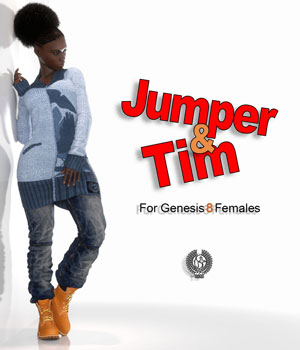 Jumper And Tim For Genesis 8 Females 3D Figure Assets samsil
