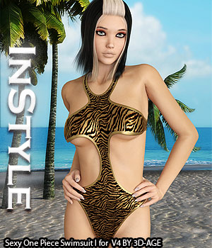 InStyle - Sexy One Piece Swimsuit I for V4A4G4S4Elite and Poser 3D Figure Assets -Valkyrie-