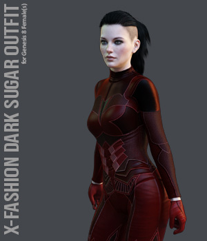 X-Fashion Dark Sugar for Genesis 8 Females 3D Figure Assets xtrart-3d