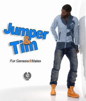 Jumper And Tim For Genesis 8 Males 3D Figure Assets samsil