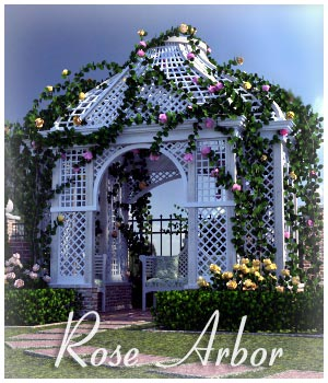 Rose Arbor for Poser and DS 3D Models RPublishing